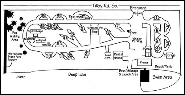 Map of Deep Lake Resort