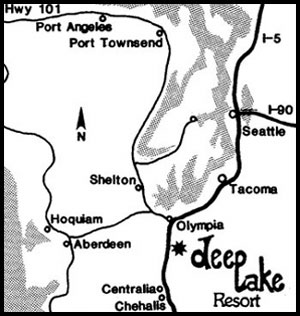 Map to Deep Lake Resort