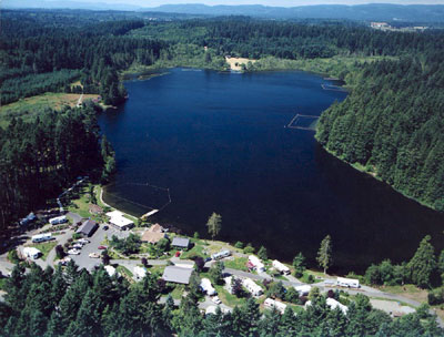 Deep Lake Resort Ariel Photo
